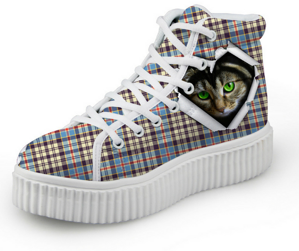 Cat Women's High Top Shoes - 50% OFF