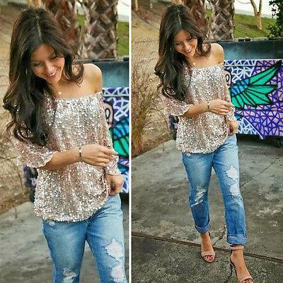 Sequined Bling Shiny Top - 60% OFF!