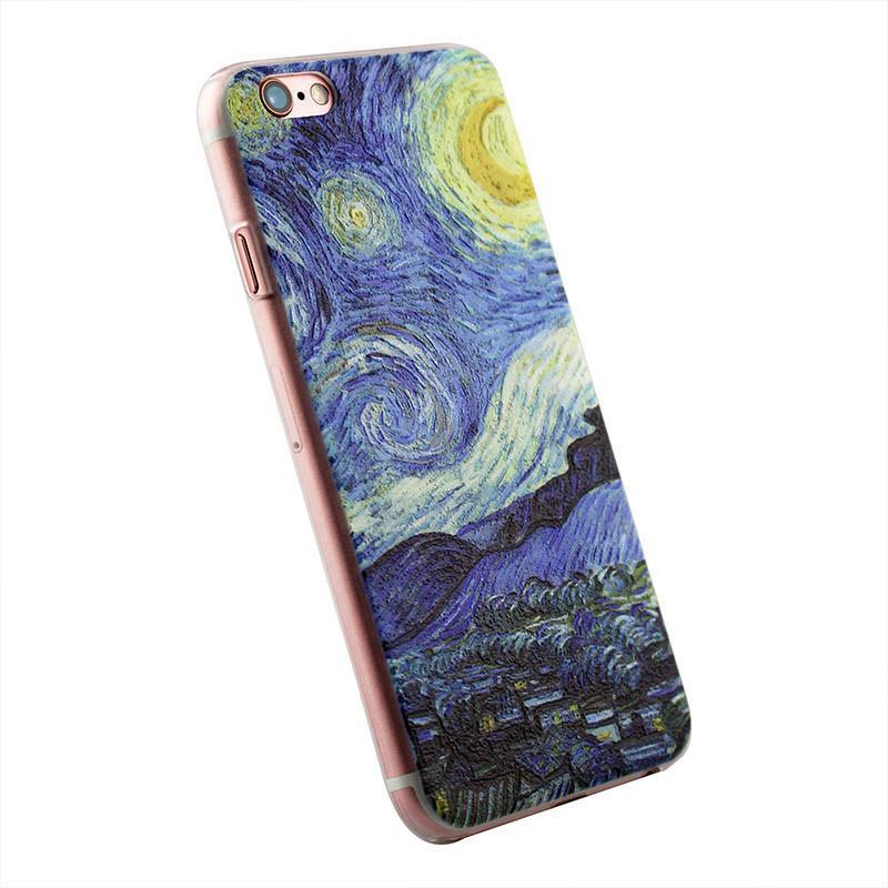 Van Gogh Starry Night Phone Embossed iPhone Case