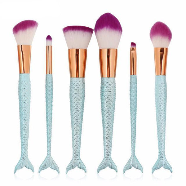 6/10Pcs Set Mermaid Tail Make Up Brush