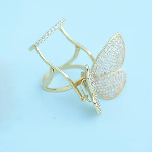 Luxury Active Moving Butterfly Ring