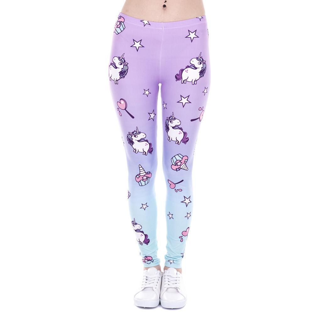 Unicorn And Sweets Printing Leggings - 50% OFF