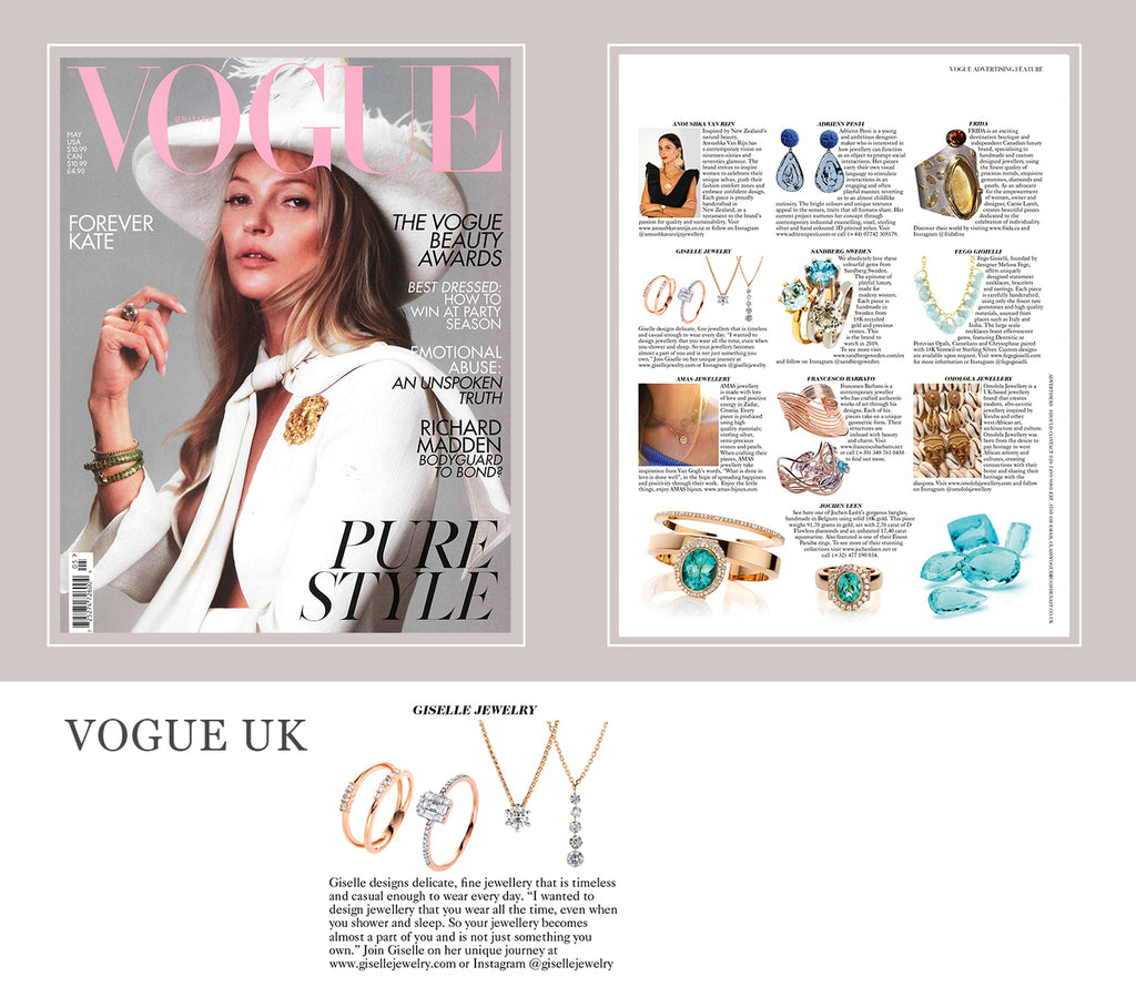 Giselle Jewelry featured in VOGUE UK
