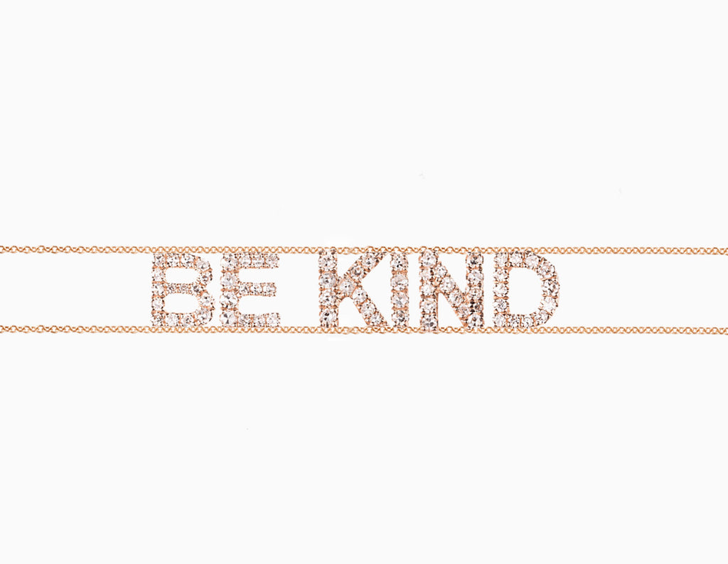 BE KIND Diamant Armkette