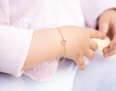 Petit ID Armband - Weissgold, Gelbgold, Roségold <br>funkelnde Diamanten - Giselle Jewelry CH - 3