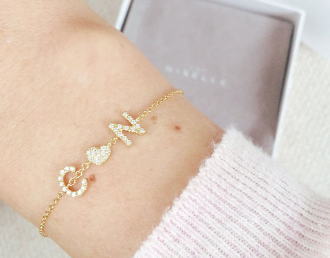 Diamond Name Armband