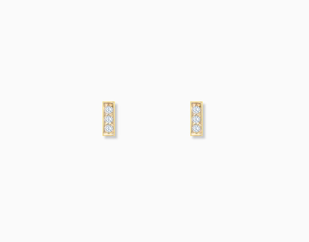 Mini Diamond Bar Studs