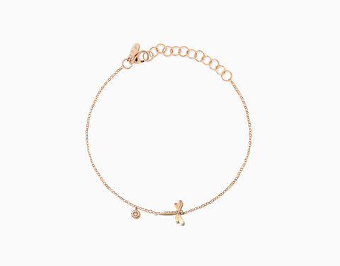 Dragonfly Diamant Fusskette