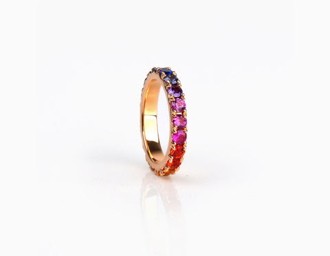 Rainbow Eternity Ring BIG