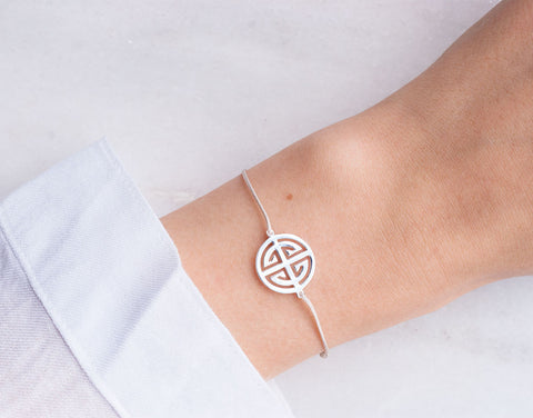 Giselle Textil-Armband - 925 Sterling Silber <br> Baumwollband - Giselle Jewelry CH - 3