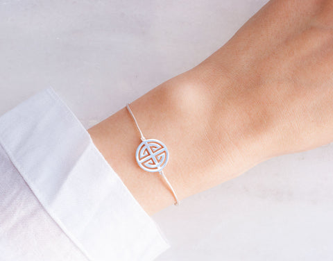 Giselle Textil-Armband - 925 Sterling Silber <br> Baumwollband - Giselle Jewelry CH - 2
