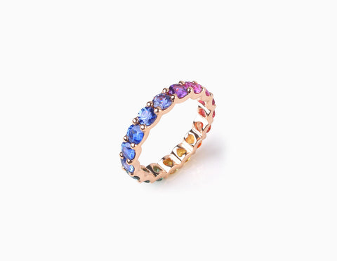 LOVE Eternity Ring  (hidden hearts)