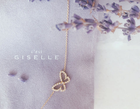 Butterfly Diamant Halskette