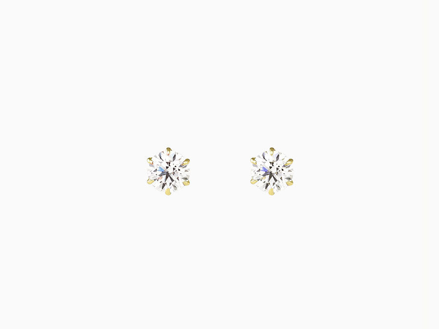 KATE Solitaire Diamond Studs