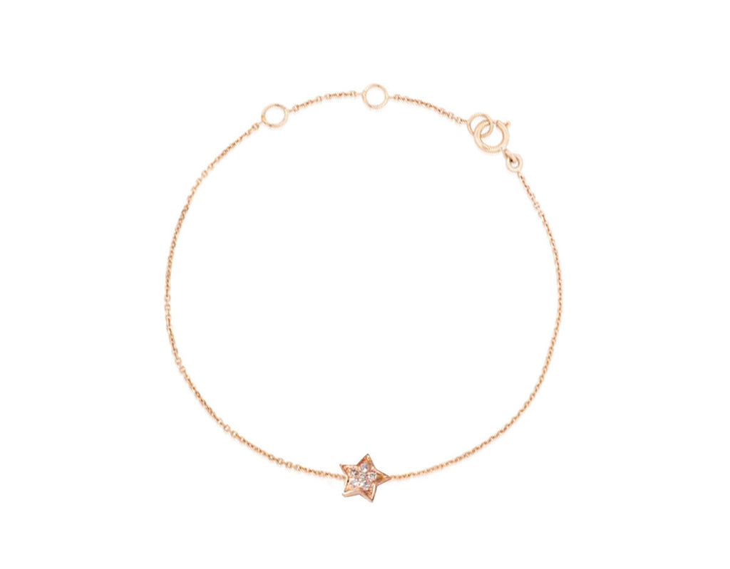 Petit Diamant Stern - Weissgold, Gelbgold, Roségold <br>funkelnde Diamanten - Giselle Jewelry CH - 1