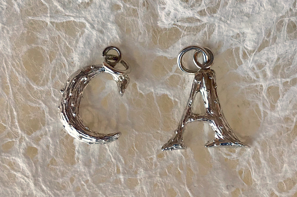 A Different Kind of Initial Pendant by Harold Jewelry