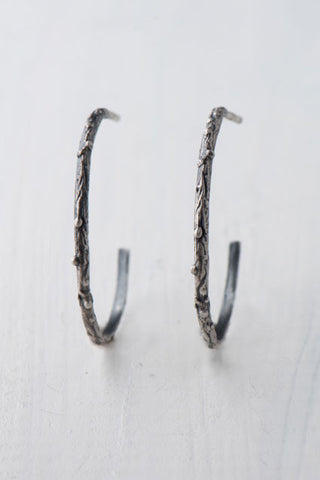 Twig Hoops in Silver - Bara B Hoops