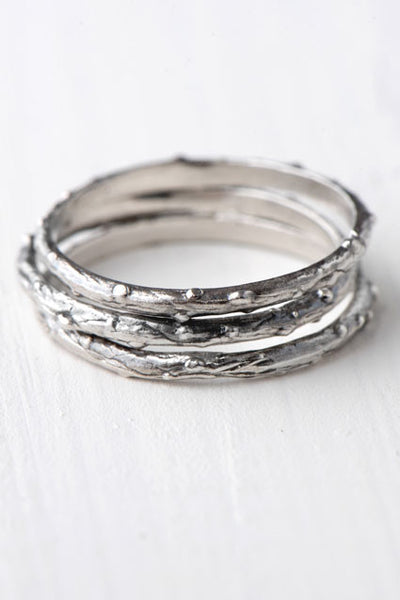 Skinny twig stacking rings