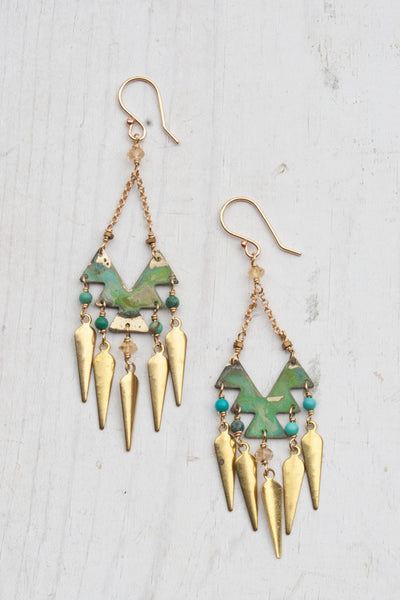 bohemian tribal earrings with fringe