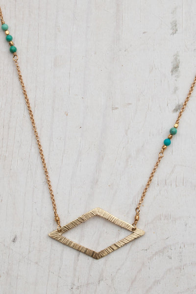 Deco East West Necklace