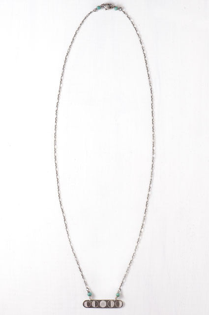 rounded bar moon phase necklace