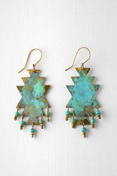 turquoise southwestern earrings