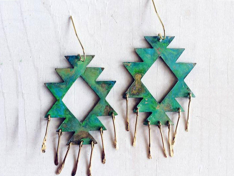 tribal earrings with fringe