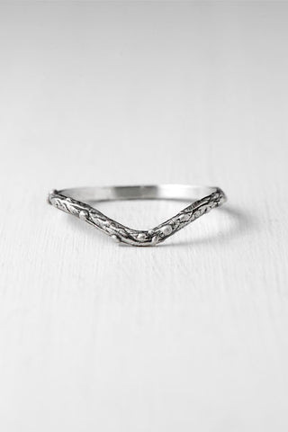 Twig chevron stacking ring