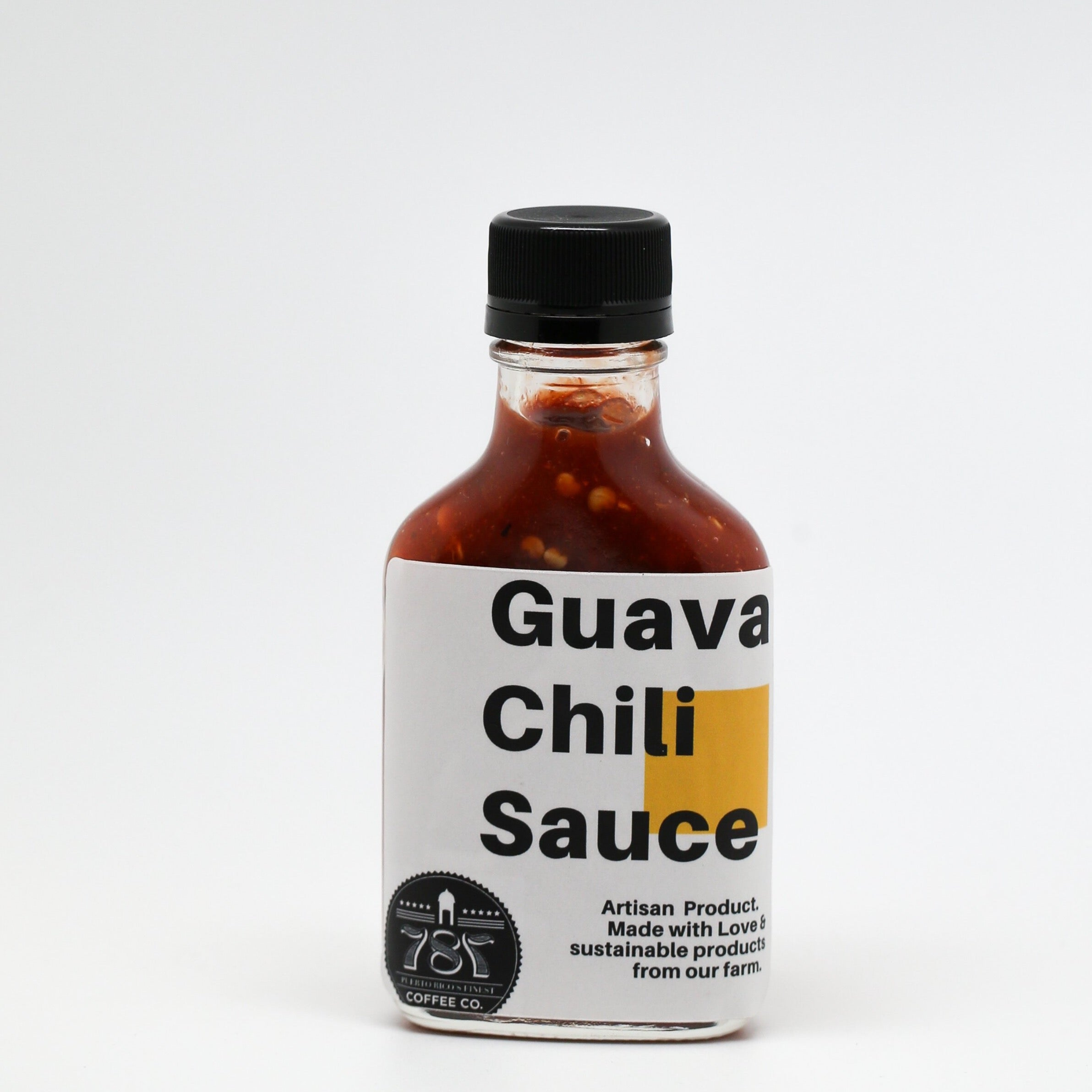 guava chili sauce artisan product made by 787 coffee it is a delicious chili sauce