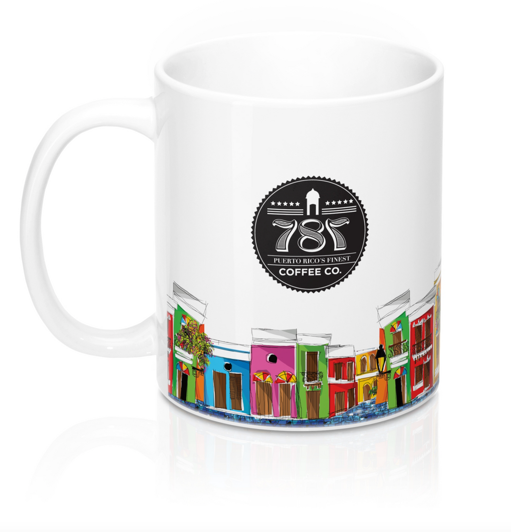 Puerto Rico Coffee Mugs - 787 Coffee