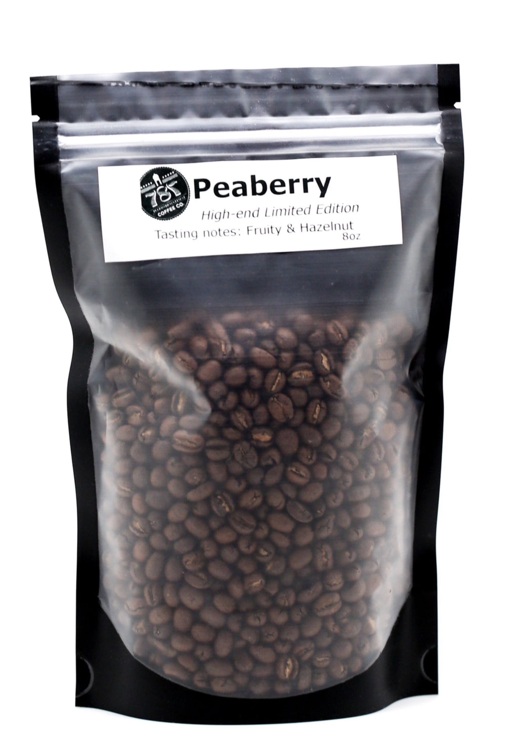 Peaberry coffee beans cafe caracolillo grown processed and roasted in our coffee farm in puerto rico . fresh coffee, strong coffee, fruity and hazelnut notes.  787 coffee has the freshest coffee