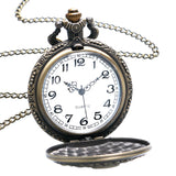 2ND AMENDMENT BRONZE QUARTZ POCKET WATCH WITH NECKLACE CHAIN