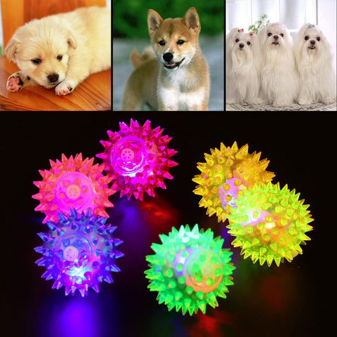 Light up Rubber Ball Dog Toy