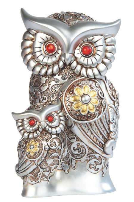 Figurine   Steampunk Mother and Baby Owl