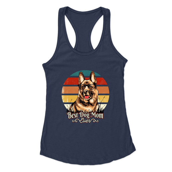 Best Dog Mom Ever German Shepard - Racerback Tank