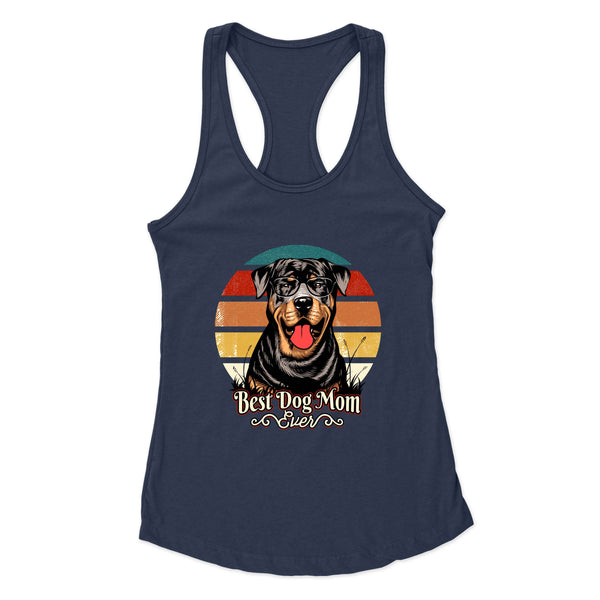 Best Dog Mom Ever Rottweiler - Racerback Tank