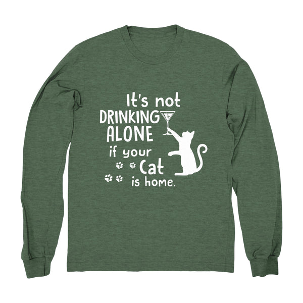 Drinking Wine With My Cat - Long Sleeve