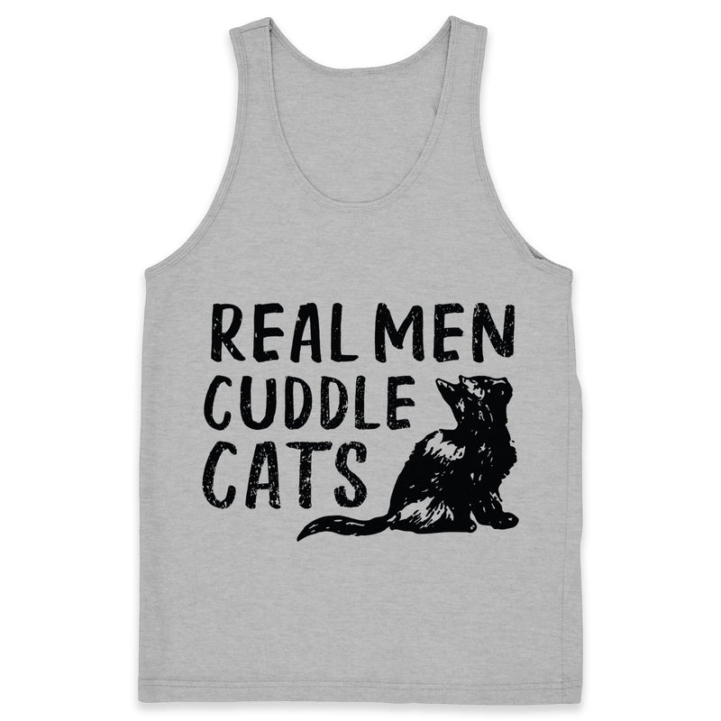 Real Men Cuddle Cats - Tank