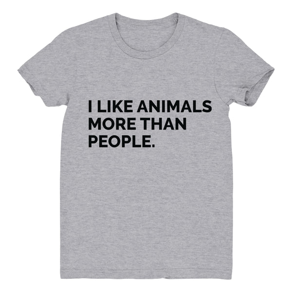 I Like Animals More Than People - Women's Tee