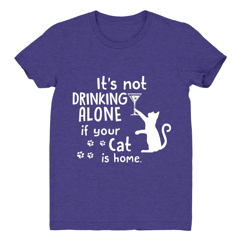 Drinking Wine With My Cat - Women's Tee
