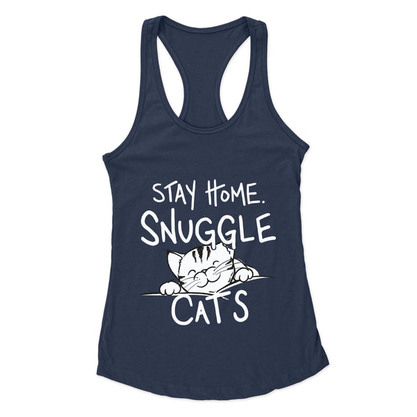 Stay Home & Snuggle Cats - Racerback Tank