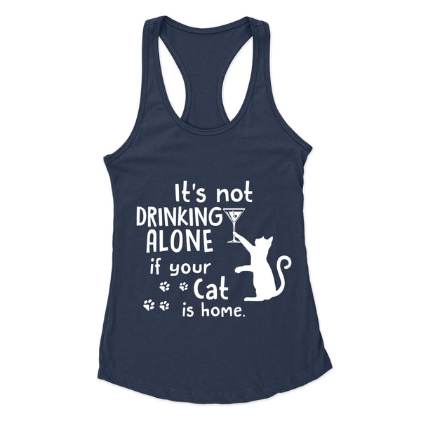 Drinking Wine With My Cat - Racerback Tank
