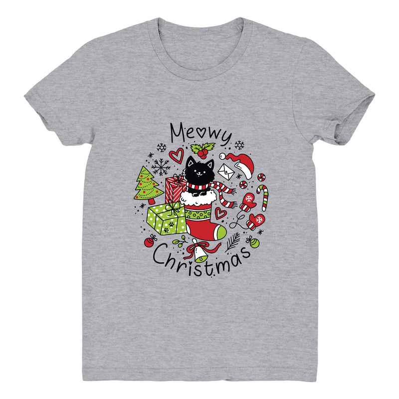 Meowy Christmas (Stocking) - Women's Tee
