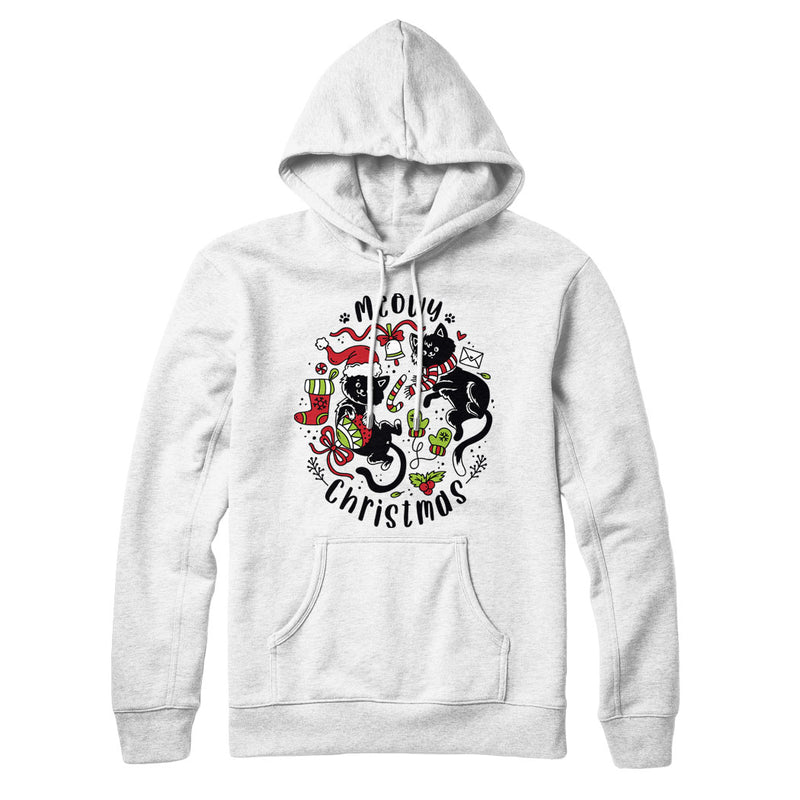 Meowy Christmas (Two Cats) - Hoodie