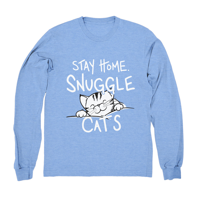 Stay Home & Snuggle Cats - Long Sleeve
