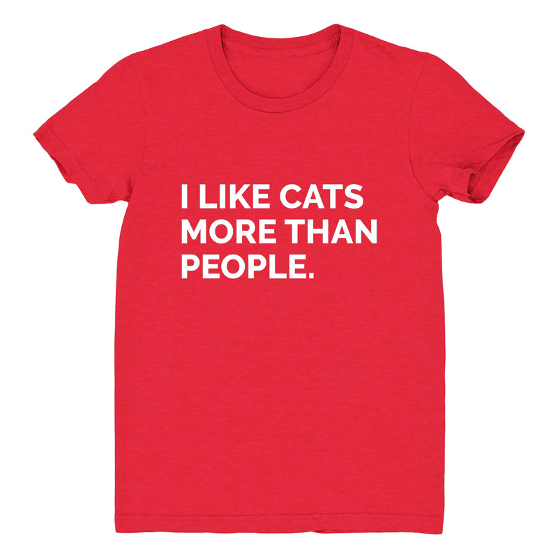 I Like Cats More Than People - Women's Tee