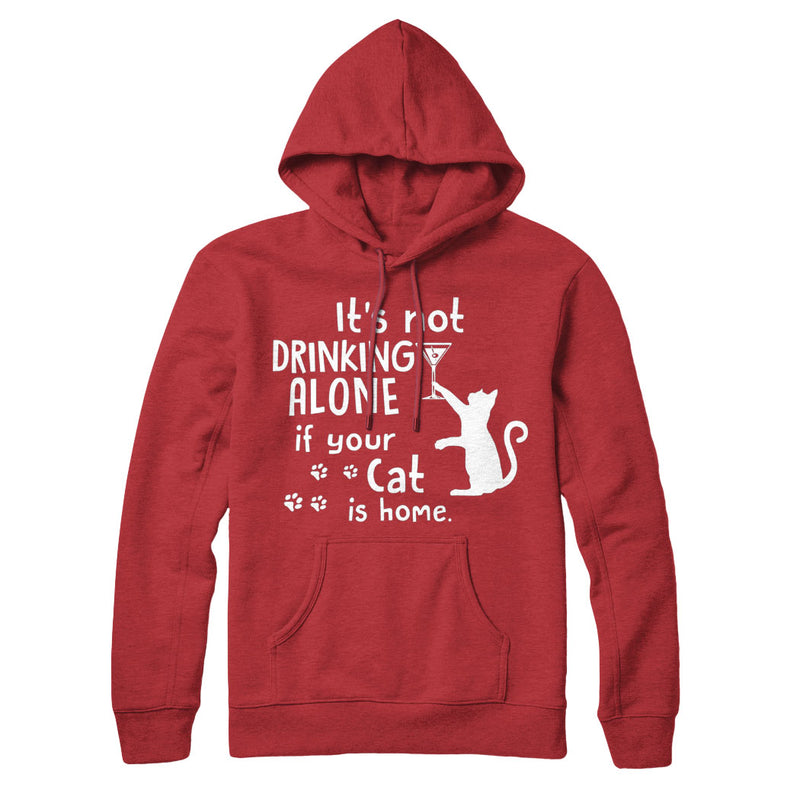 Drinking Wine With My Cat - Hoodie