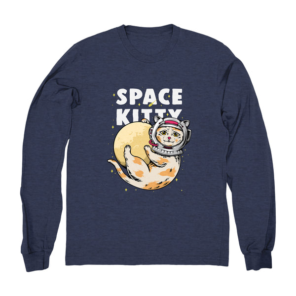 Kitty on Moon - Long Sleeve