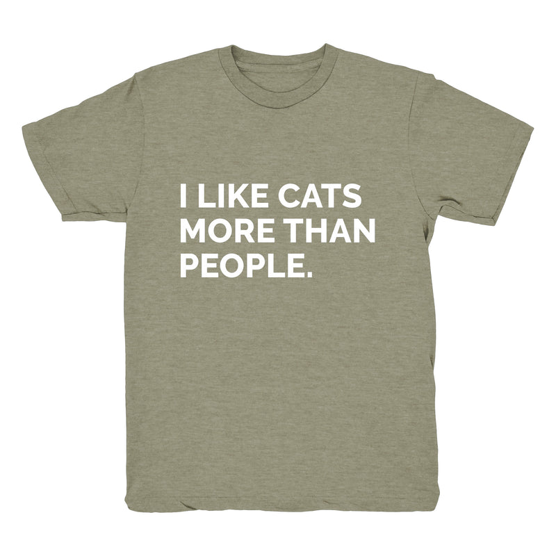 I Like Cats More Than People - Tee