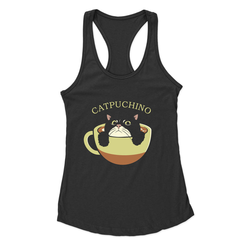 Catpuchino (One) - Racerback Tank